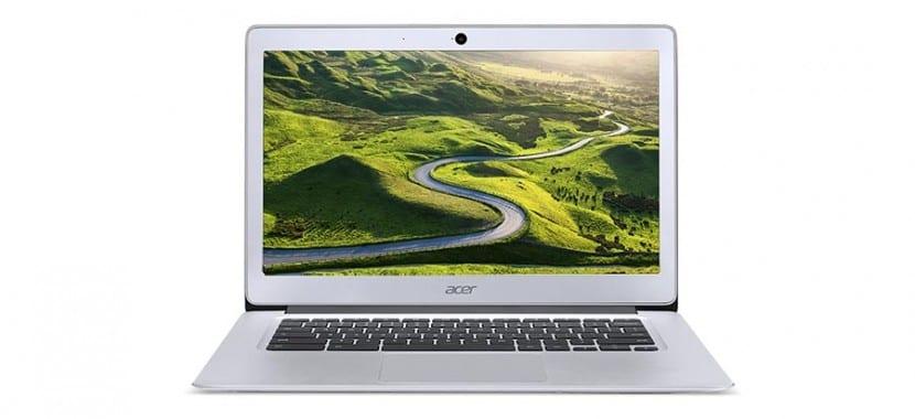 Imagen de frente del Acer Chromebook 14