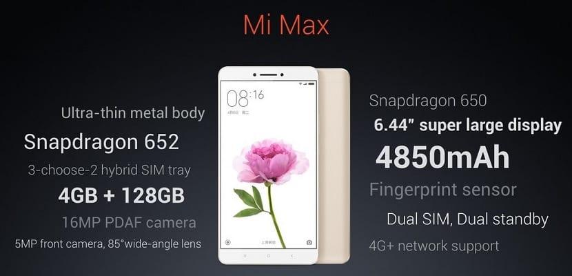 Características Xiaomi Max