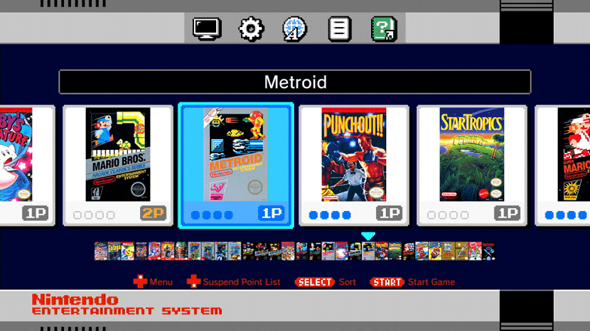 Interfaz Nintendo Classic Mini