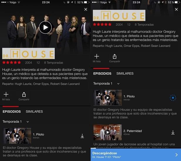Descarga contenido Netflix