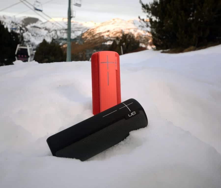 UE BOOM 2 en la nieve