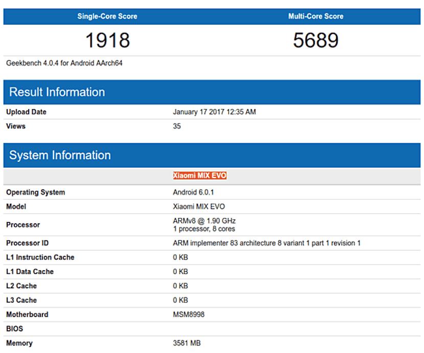 benchmark Xiaomi