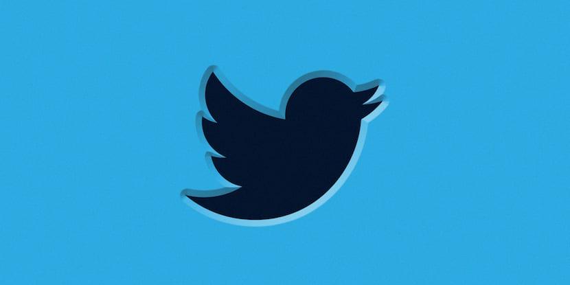 Twitter logotipo en negro