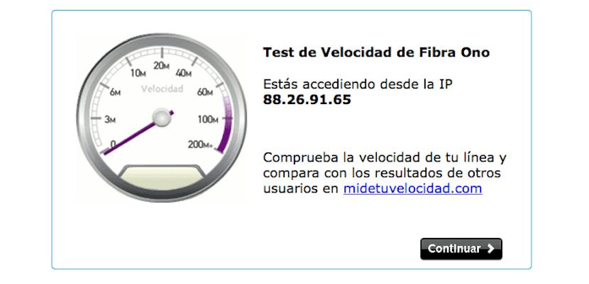 Test de velocidad para fibra