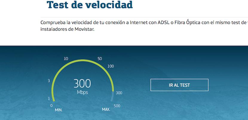 Test de velocidad de Movistar