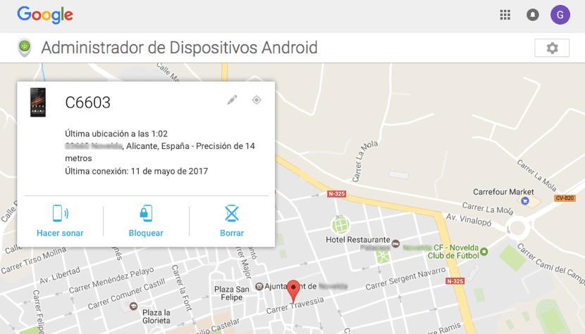 Localizar smartphone Android perdido o robado