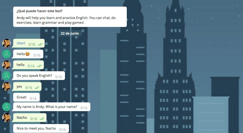 Aprende inglés con Telegram
