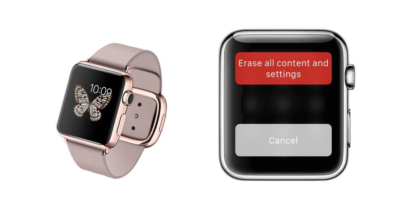 Reseteo del Apple Watch