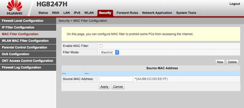 Filtrar MAC para evitar que se conecten a nuestro Wifi