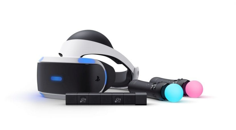 Kit de realidad virtual formado por un casco PlayStation VR, la cámara PlayStation y los mandos PlayStation Move