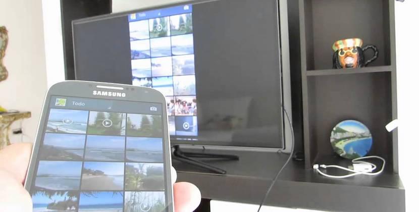 Conectar smartphone a TV con cable MHL