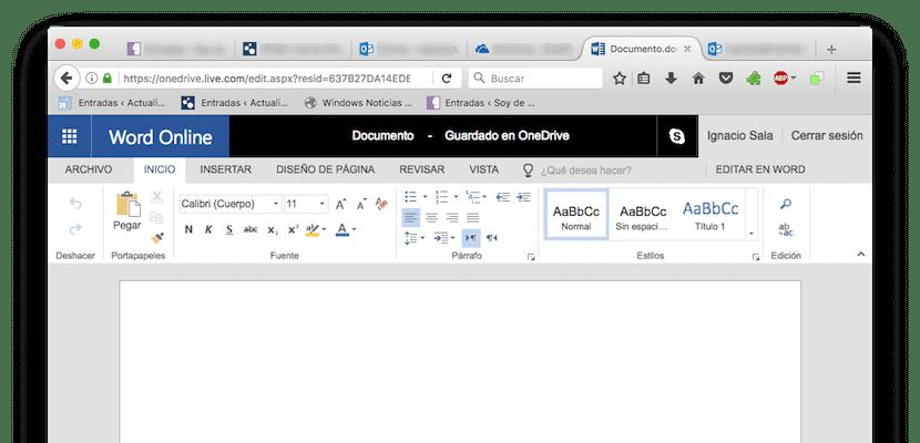 Word Online, procesador de textos online