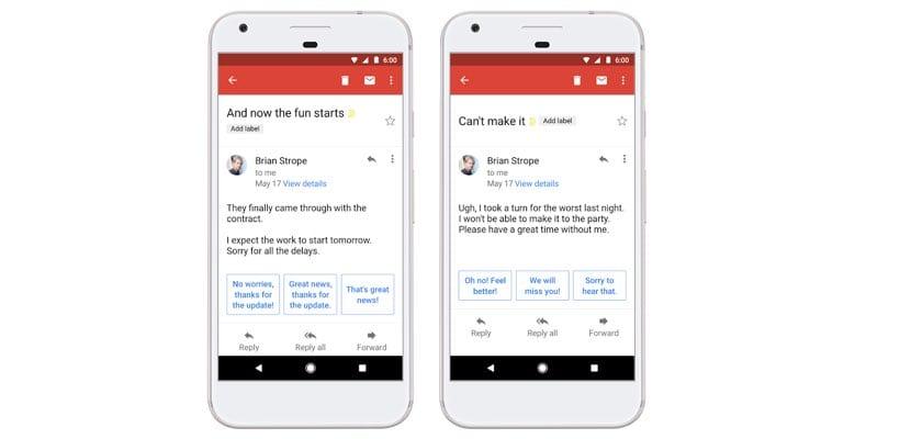 respuestas inteligentes de Gmail disponible en español