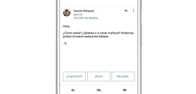 respuestas inteligentes de gmail en español