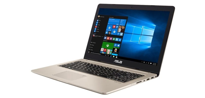 portátil gaming ASUS Vivobook Pro N580 abierto