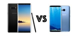 Galaxy Note 8 vs Galaxy S8
