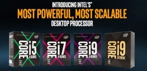 Familia CPU Intel Core-X