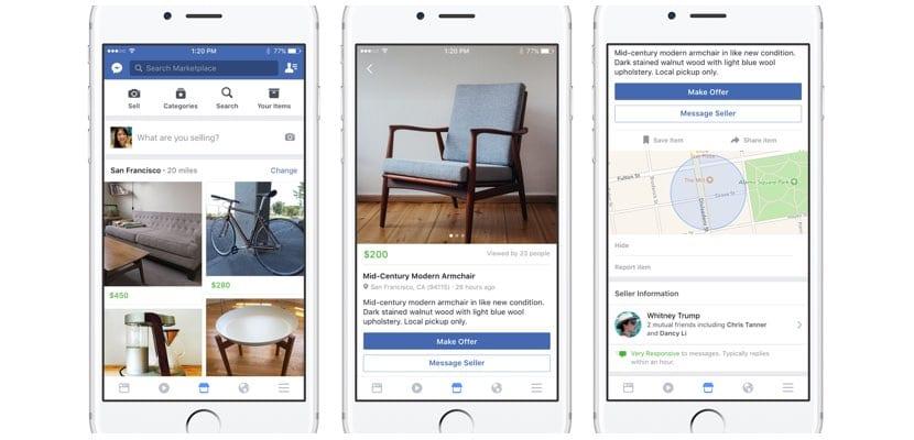 Facebook Marketplace llega a España para rivalizar con Wallapop