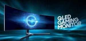 monitor QLED Samsung CHG90 curvo de 49 pulgadas