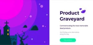 Product Graveyard es un cementerio online