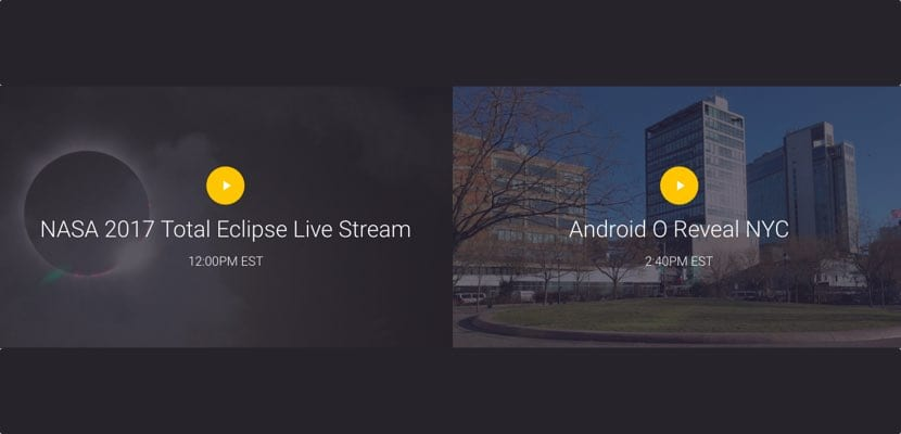 Evento Streaming Android O