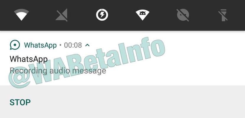 Actualización WhatsApp grabación de audios