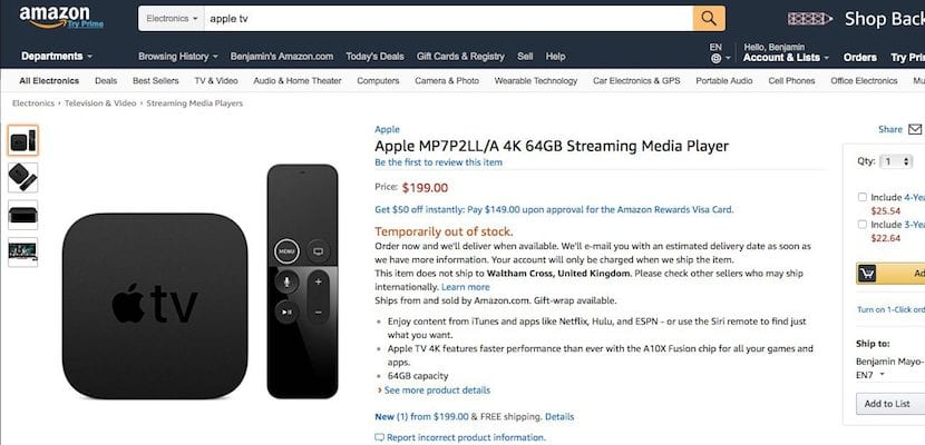 Apple TV 4K en Amazon