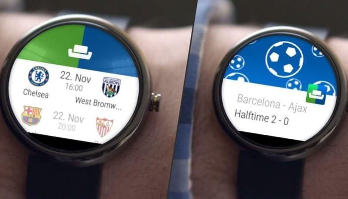 Imagen de la aplicación SofaScore para Android Wear