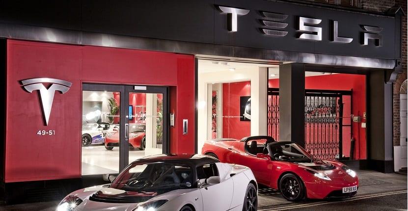 Imagen de una tienda de Tesla