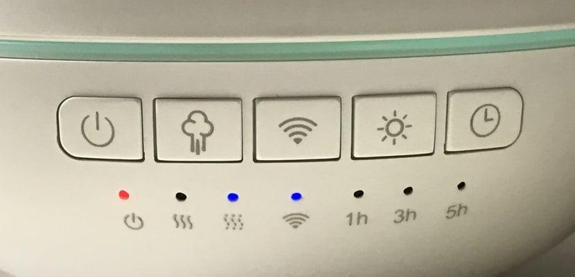 Botones control del Oittm Smart Aroma Diffuser