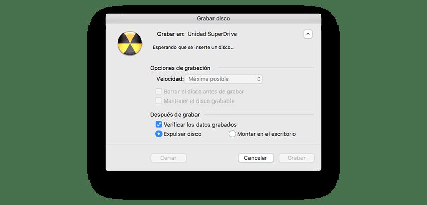 Grabar iso en Mac sin aplicaciones de terceros