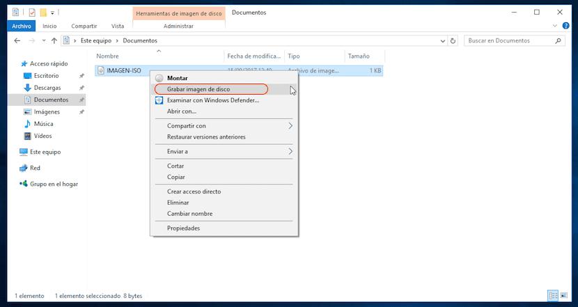Grabar imagen ISO en Windows sin aplicaciones de terceros
