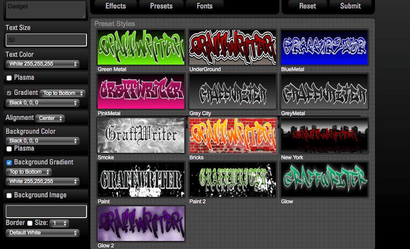 Crear fantásticos Graffitis con Graffwriter