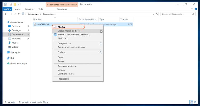 Montar imagen ISO en Windows sin aplicaciones de terceros