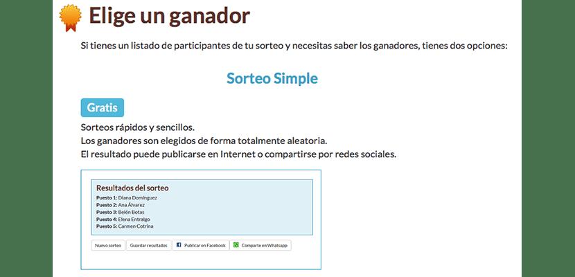 Realiza sorteos online con Sortea2
