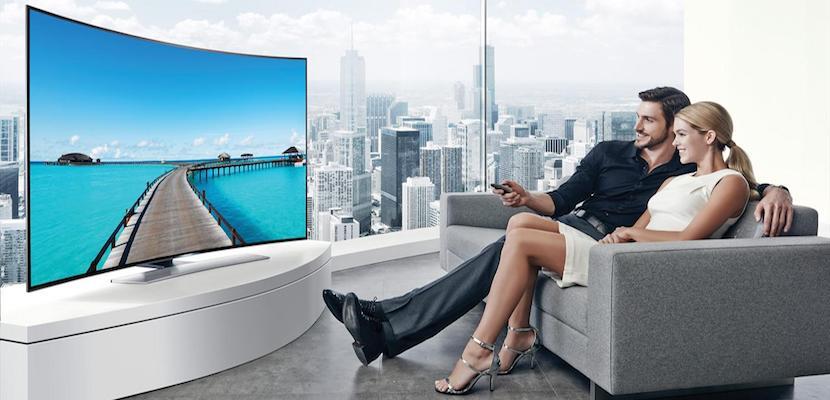 Televisor de pantalla curva