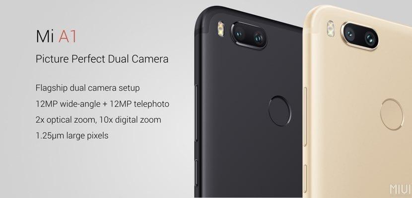 doble cámara en el Xiaomi Mi A1