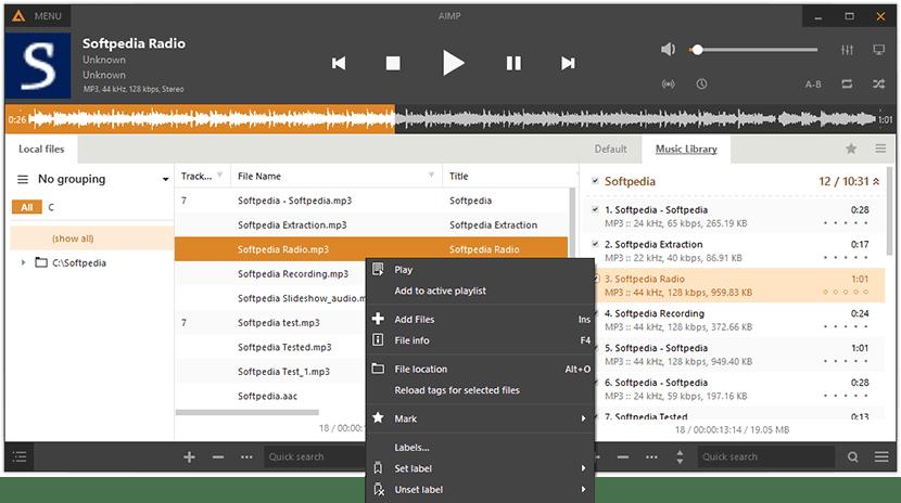 AIMP, es otra de las opciones para escuchar música en nuestro PC
