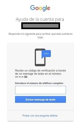 Imagen de la página de ayuda de la cuenta de Gmail