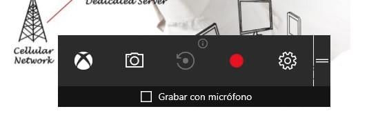 Imagen de la barra de juego de Windows 10