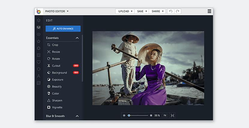 BeFunky, completo editor de fotografías online