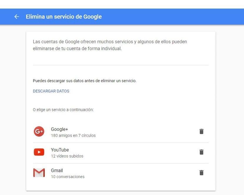 Imagen de cómo eliminar una cuenta de Gmail