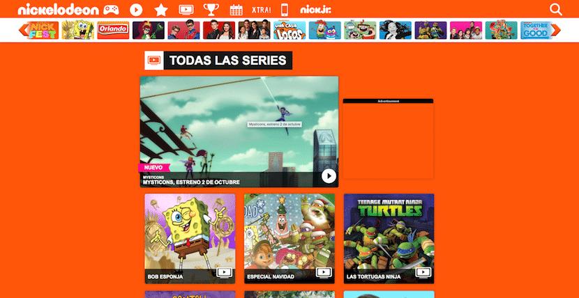 Nickelodeon, el creador de Bob Esponja, también nos ofrece vídeos para niños