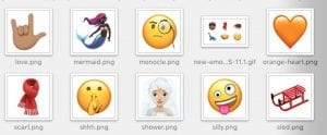 Imagen de los nuevos emojis de iOS 11