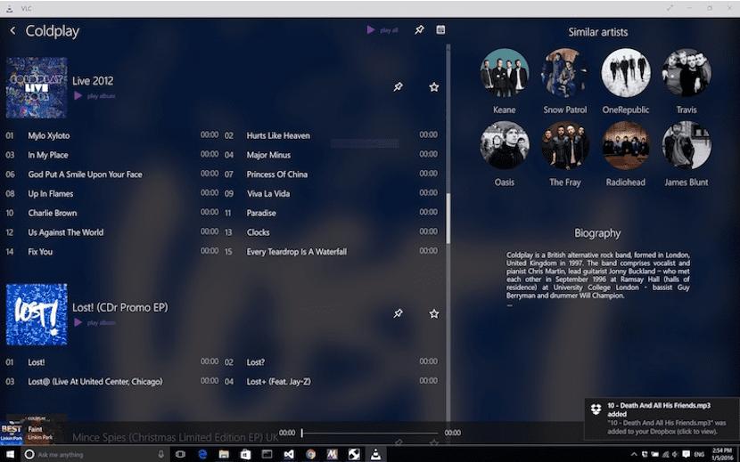 VLC Reproductor de música gratuito para PC