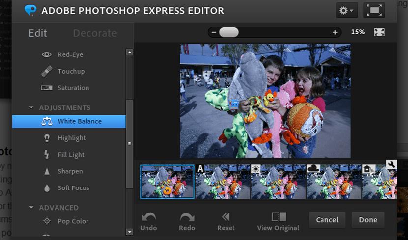 Edita tus fotografías online con Adobe Photoshop Editor Express