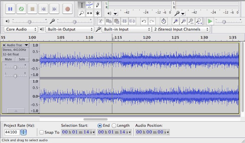 Mezcla y reproduce tus canciones favoritas con Audacity
