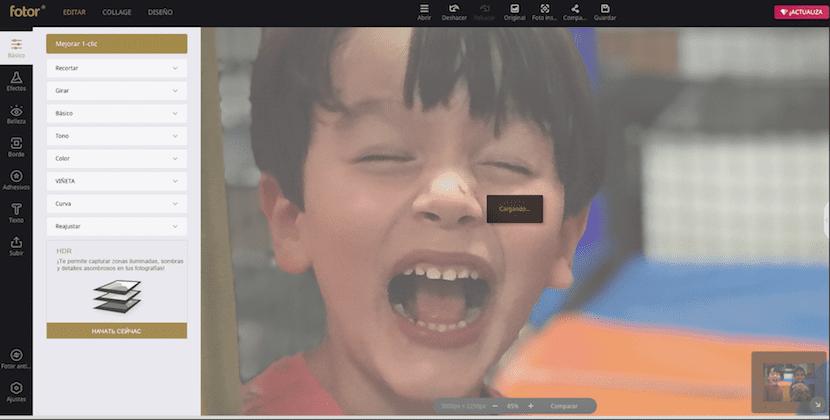 Fotor, editor de fotografías online compatible con HTML 5