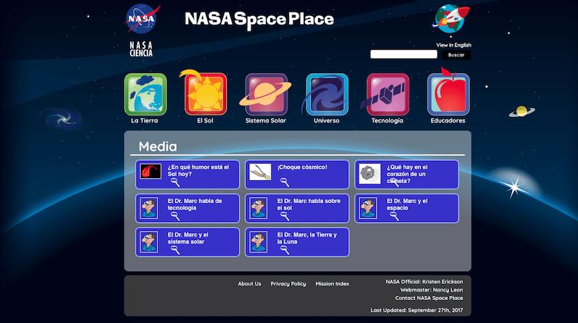La NASA acerca el espacio con videos para los niños