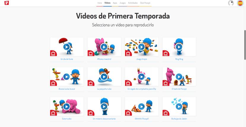 Todos los videos de Pocoyo para los niños en la web de Pocoyo